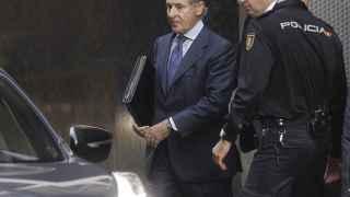 Miguel Blesa, tras declarar en mayo de 2014 en la Audiencia Nacional