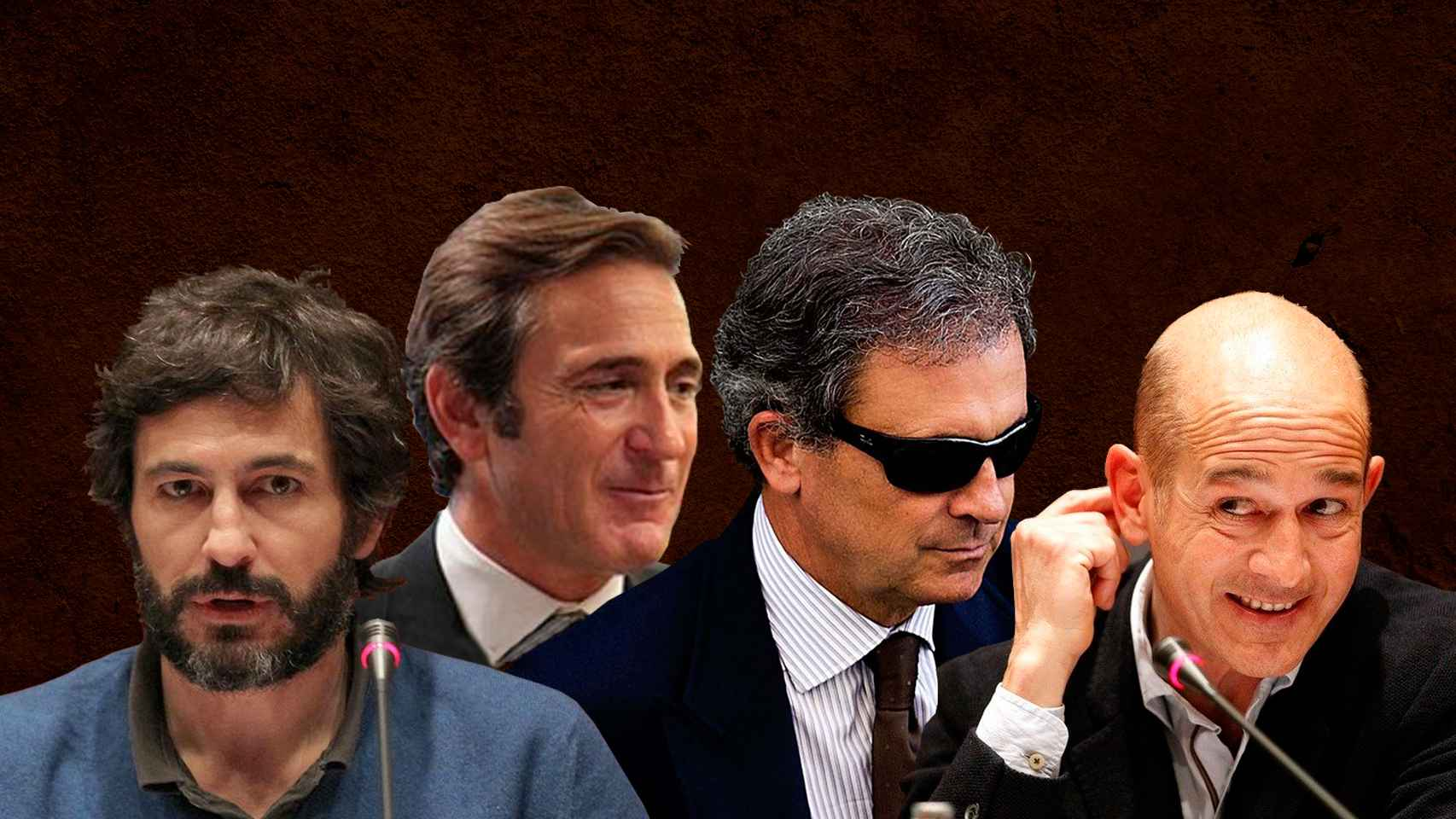 Los hermanos Oleguer, Josep, Jordi y Pere Pujol