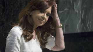 Cristina Fernandez de Kirchner durante la 70 Asamblea general de Nationes Unidas en Nueva York.