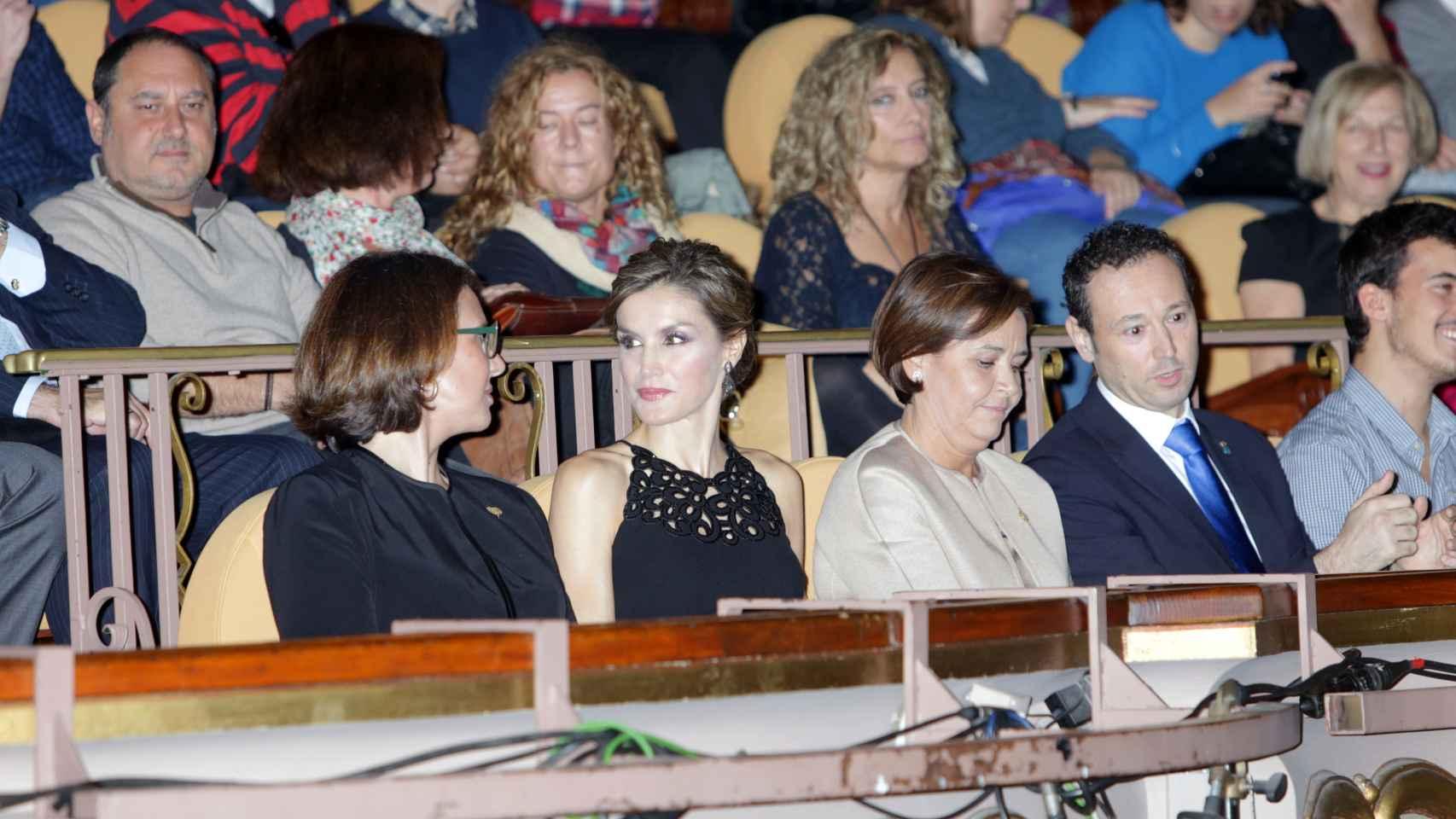 La Reina en el homenaje a Coppola en el Teatro Jovellanos