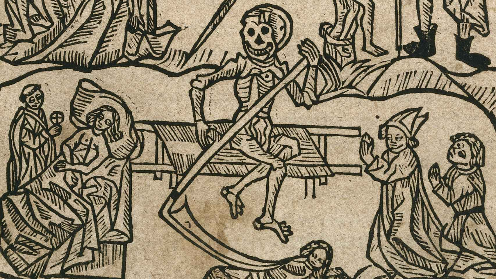Una ilustración medieval representa la peste.