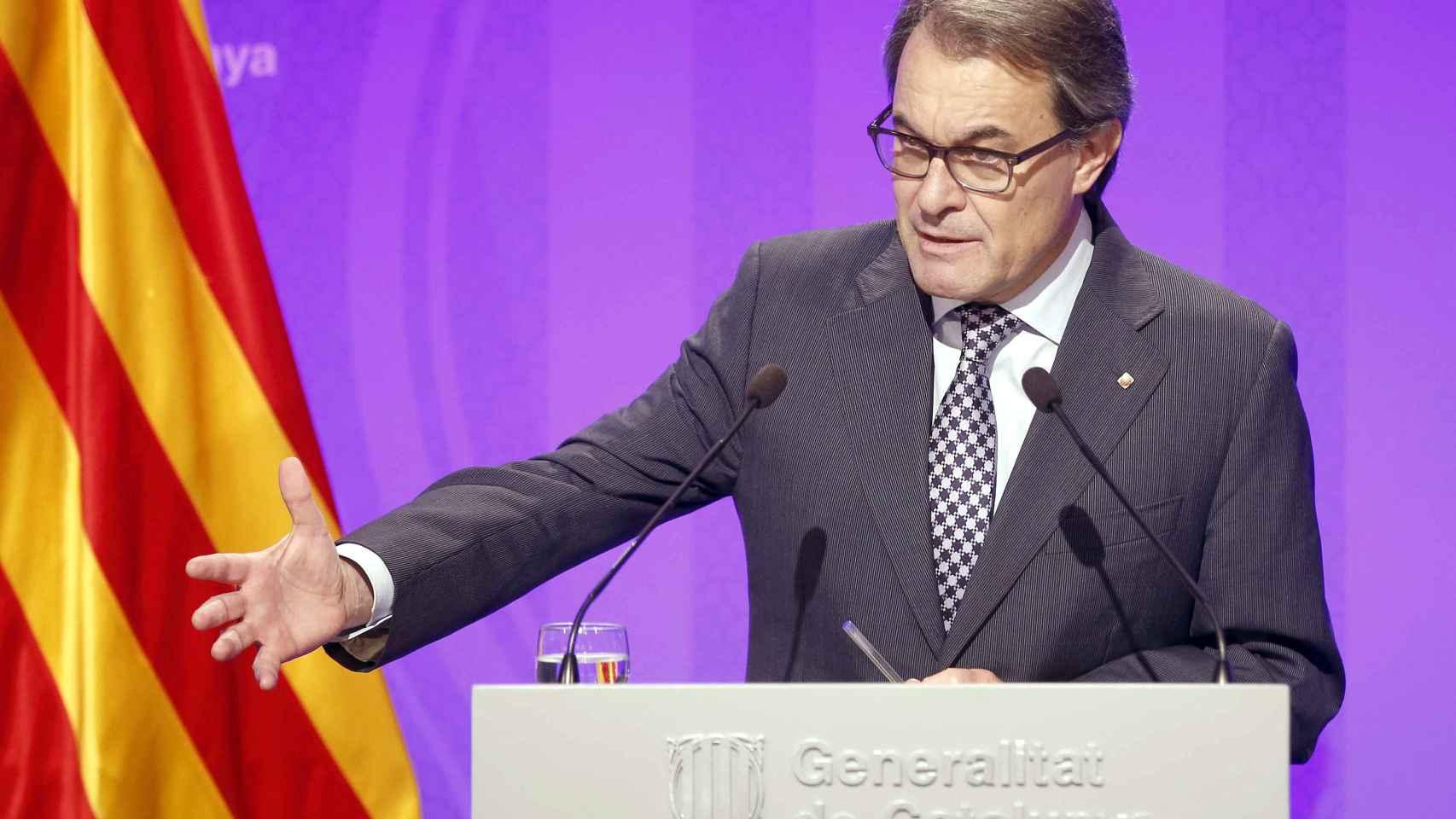 Artur Mas en su última comparecencia pública.
