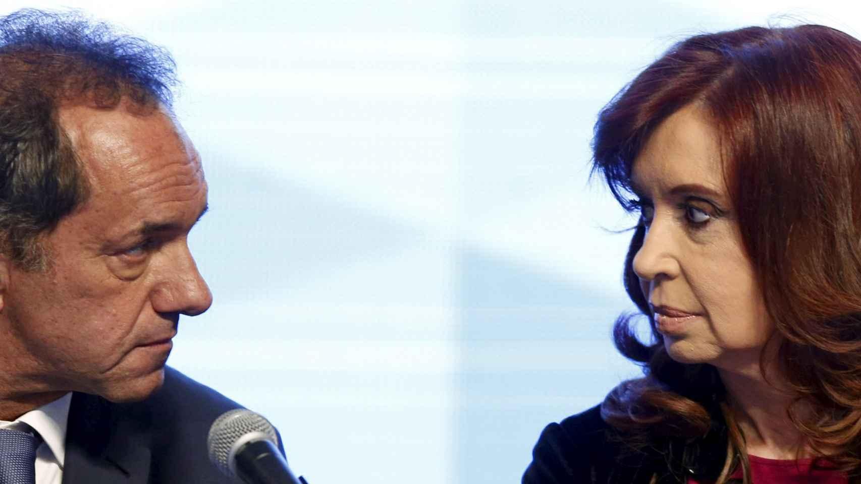 Cristina Kirchner y Daniel Scioli, el kirchnerista 'impuro'.