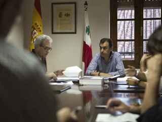 El vicesecretario de Organización del PP, en un pleno municipal.
