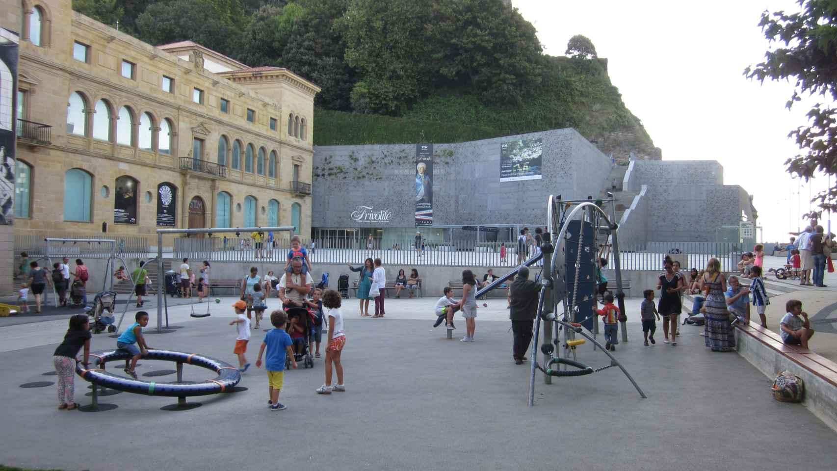 Una parque infantil en San Sebastián.