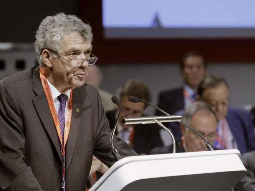 Ángel María Villar, presidente de la RFEF, durante un acto reciente.