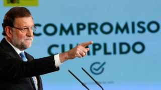 Rajoy, durante la rueda de prensa en Moncloa.