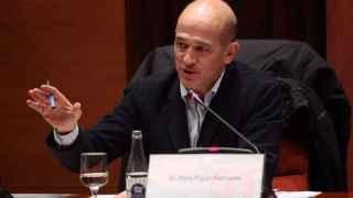 Pere Pujol Ferrusola durante su comparecencia en la comisión de investigación del fraude fiscal del Parlament.
