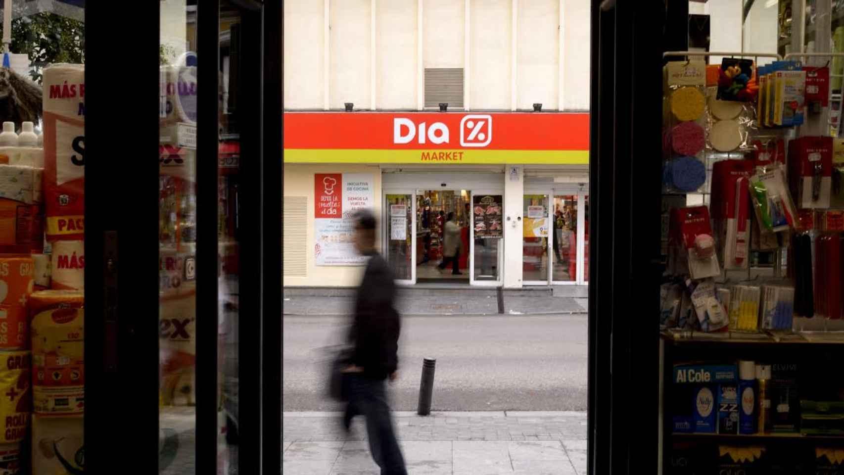 Exterior de una tienda Dia.
