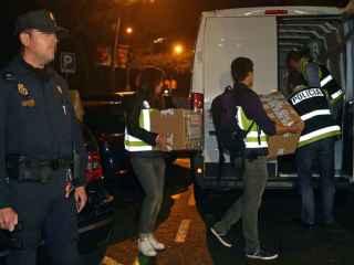 La Policía finaliza el registro de las oficinas de las empresas de Jordi Pujol Ferrusola. / EFE