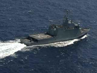 Uno de los buques que participa en el operativo.