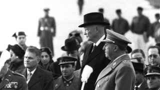 Franco recibe a Eisenhower en Madrid en 1959.