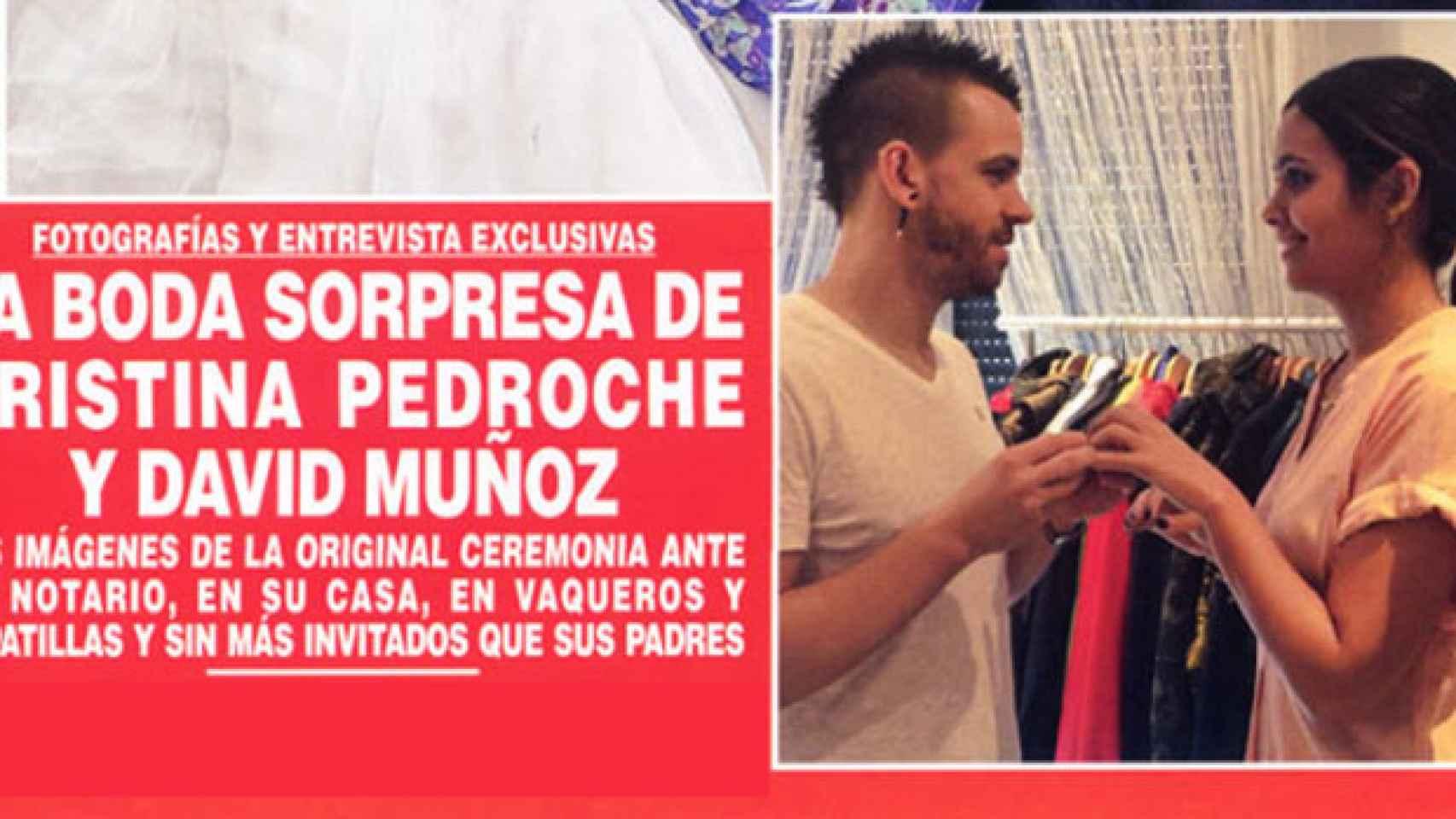 Pedroche y el chef David Muñoz se casaron este sábado