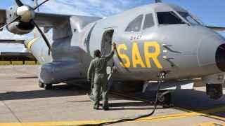 Uno de los aviones que participan en las labores de rescate.