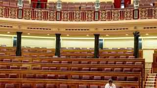 El Congreso, vacío, tras la última sesión.
