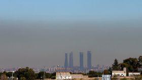 Vista de Madrid con el cielo oscurecido de polución