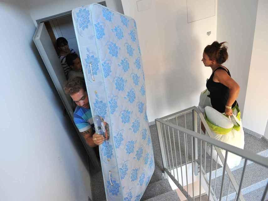 Inquilinos ocupan un inmueble en Terrassa.
