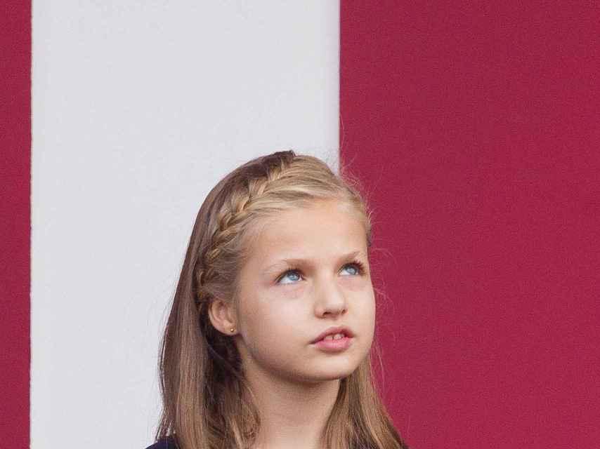 La princesa de Asturias, en el desfile del 12 de octubre