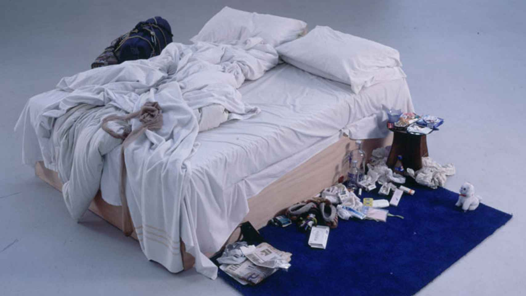 La obra de Tracey Emin, My bed.