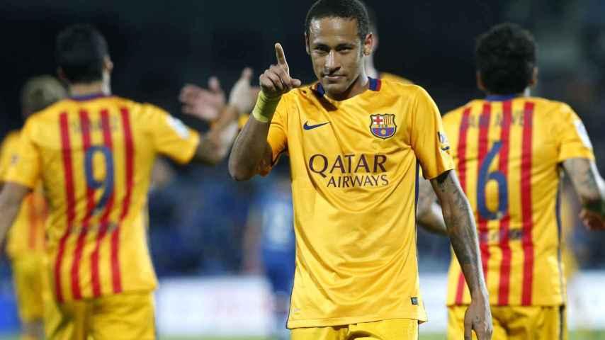 Neymar celebra su gol ante el Getafe. / Juan Carlos Hidalgo / EFE