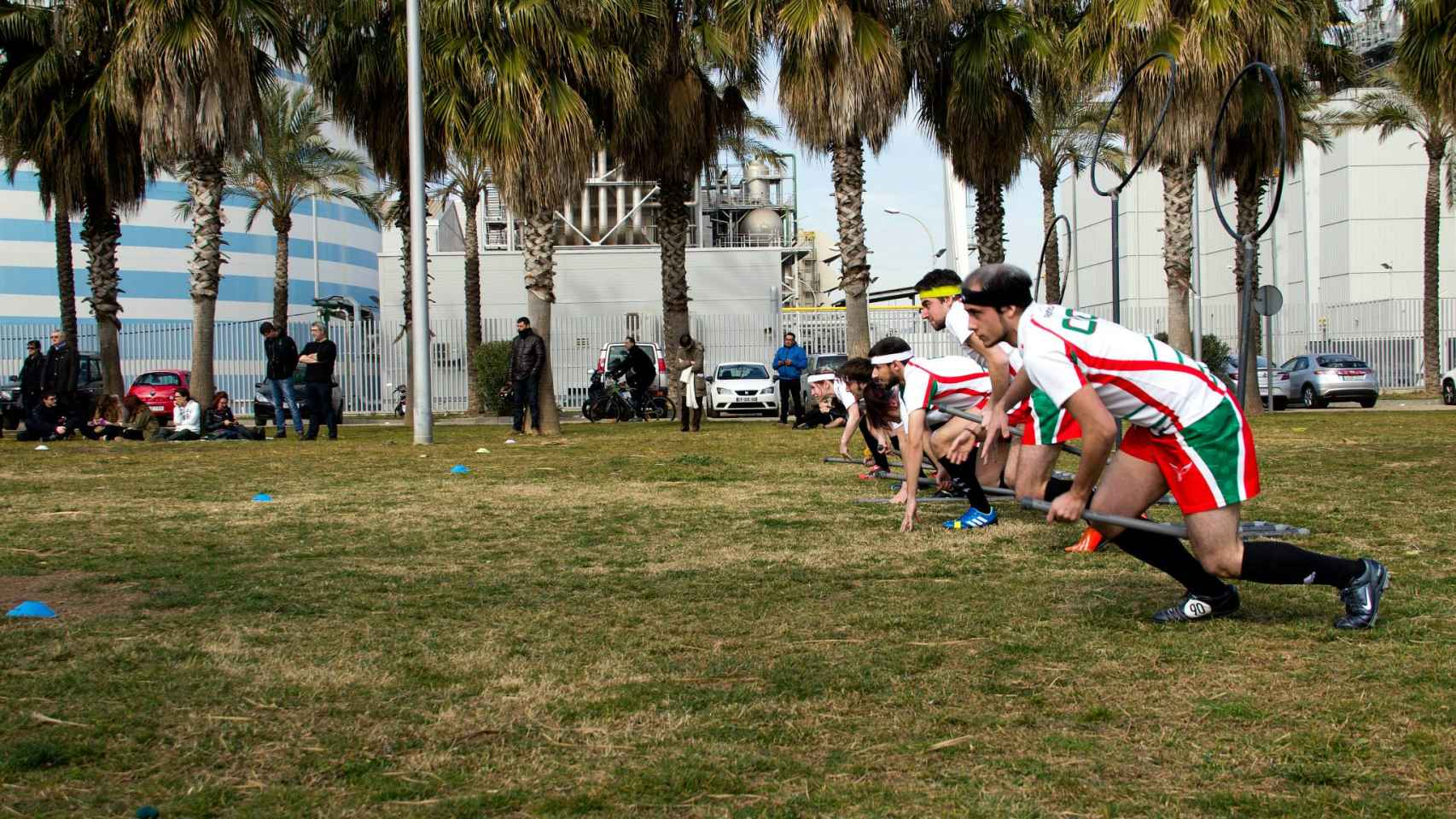 Jugadores del Bizkaia Boggarts durante un partido. / Bizkaia Boggarts Quidditch Taldea