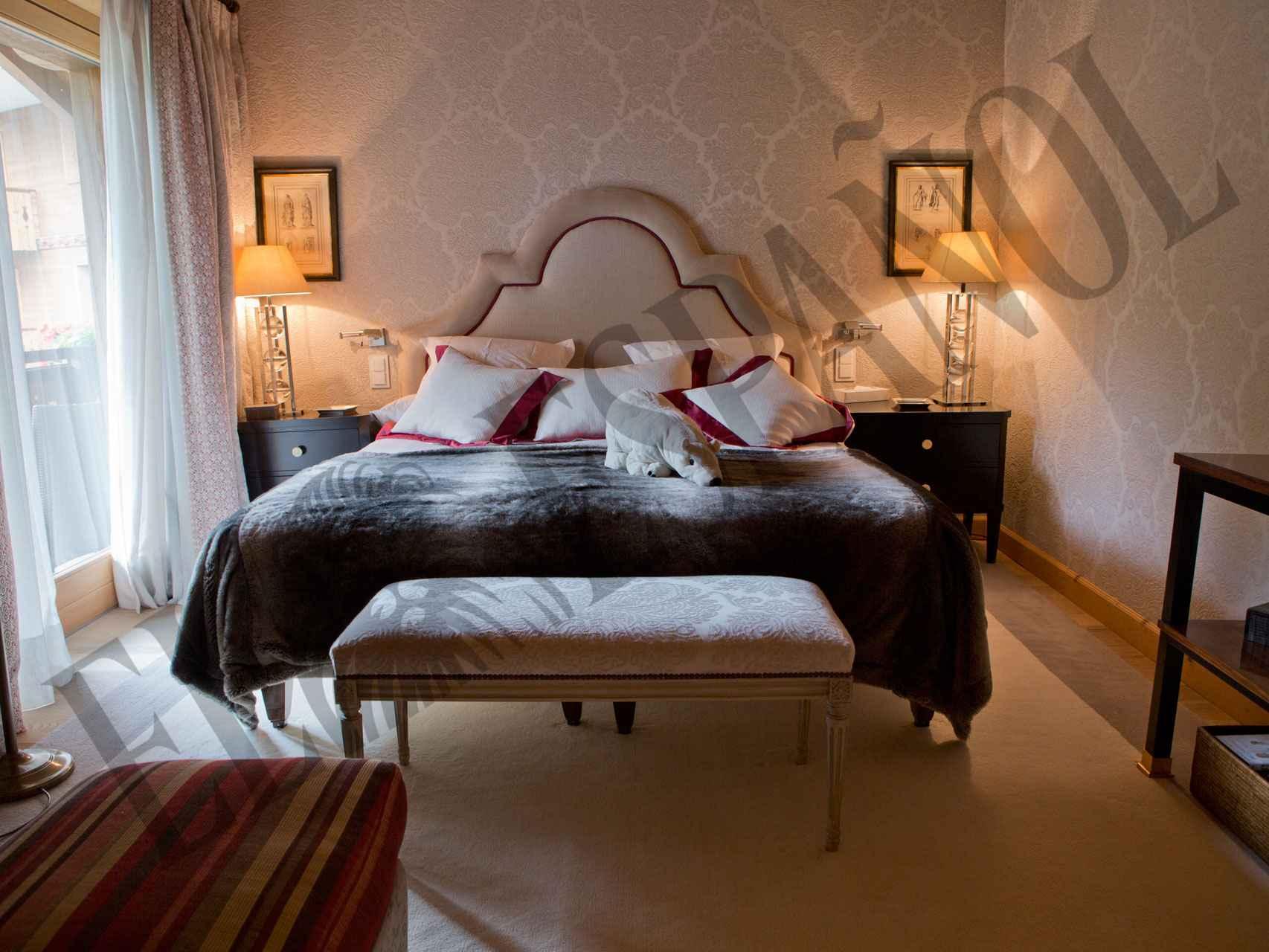 El dormitorio de la suite principal