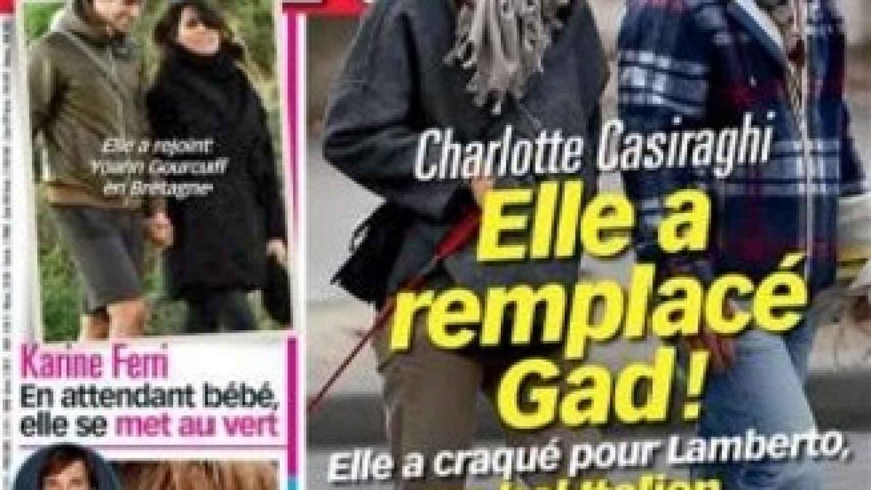 Carlota Casiraghi junto a Lamberto Sanfelice en la portada de Voici
