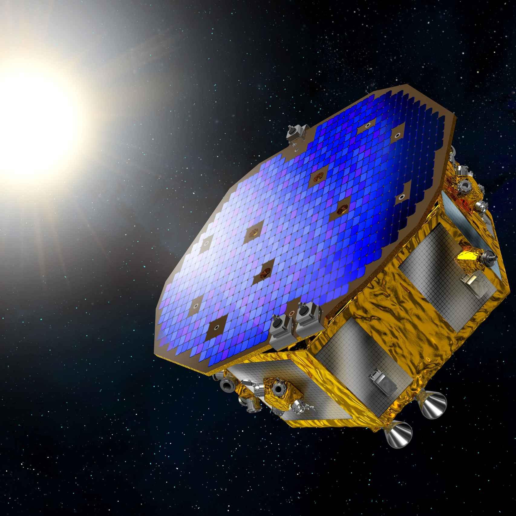 Ilustración de la sonda LISA Pathfinder.