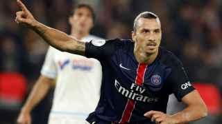 Zlatan Ibrahimovic celebra un gol en el Parque de los Príncipes