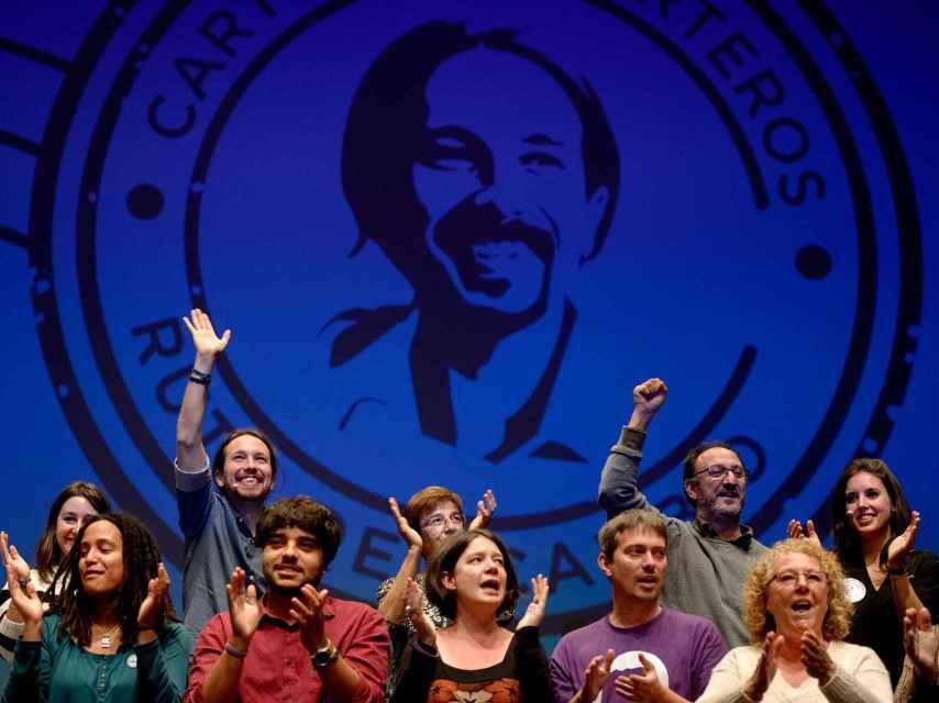 Pablo Iglesias, durante un acto electoral celebrado en Getafe.