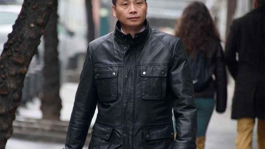 Gao Ping llegando a la Audiencia Nacional