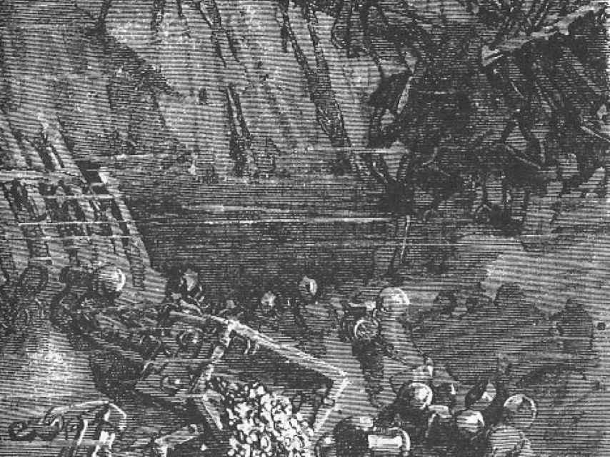 El grabado de 'La Ilustración Española y Americana'.
