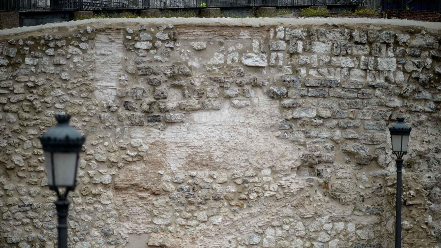 Aspecto general en el que ha quedado el muro.