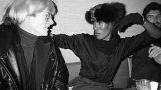 Andy Warhol e Iman