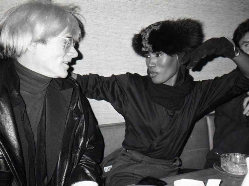 Andy Warhol y Grace Jones.