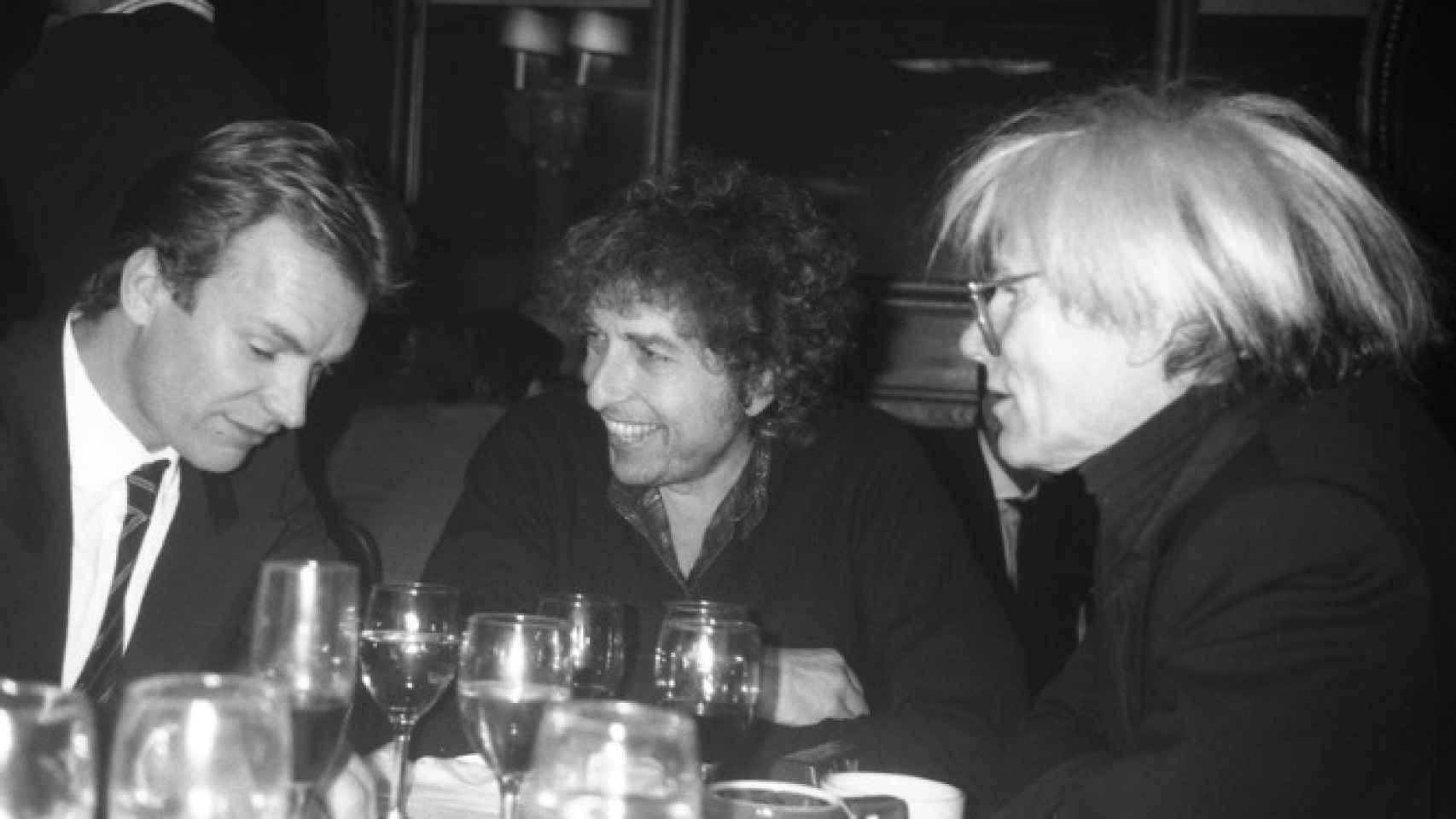 Sting, Bob Dylan y Warhol.