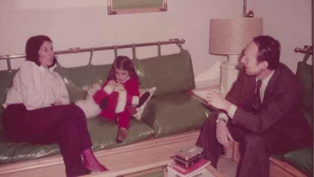 Carmen Romero con su hija María durante la entrevista en Moncloa