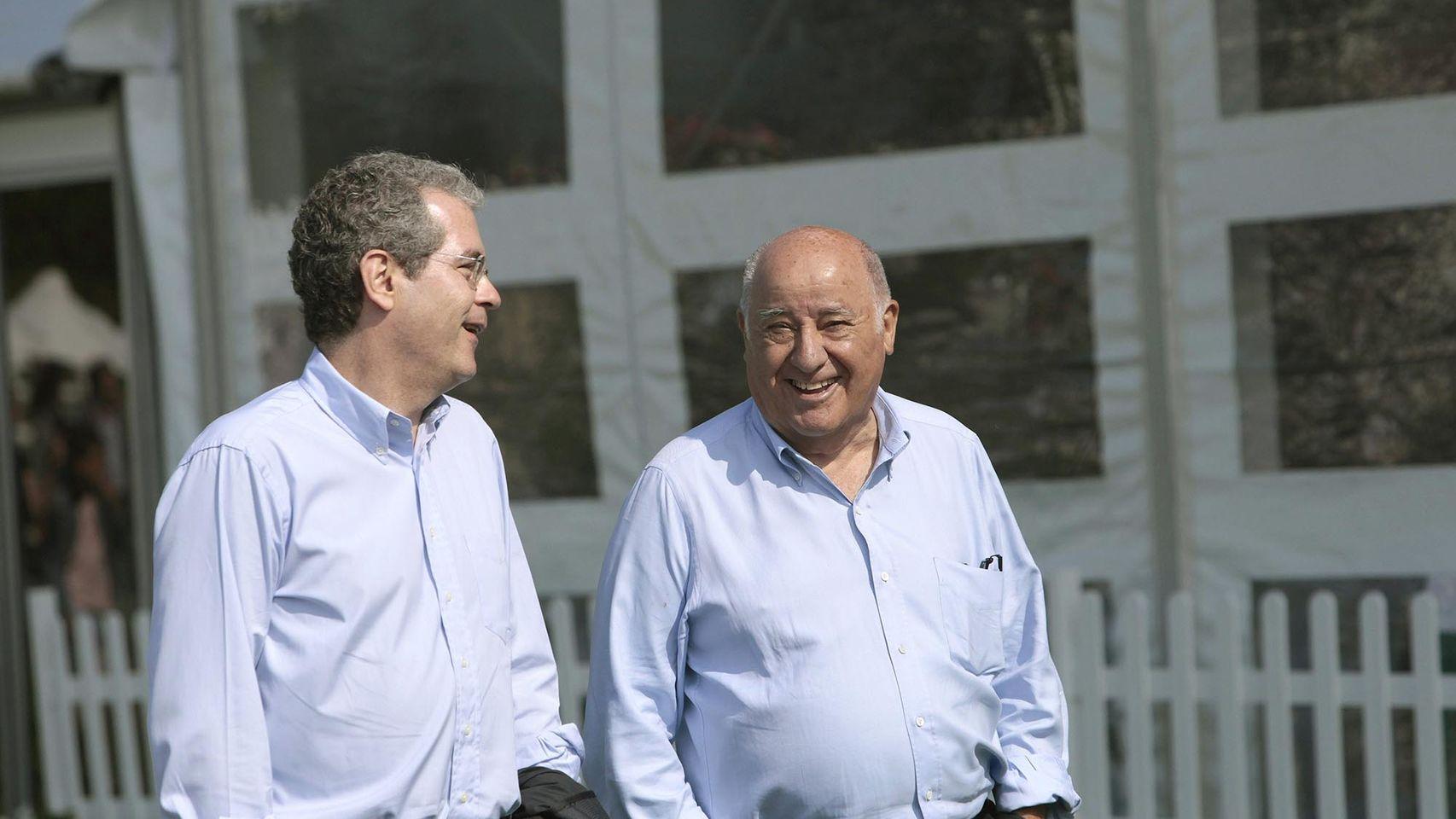 Pablo Isla junto al fundador de Inditex, Amancio Ortega.