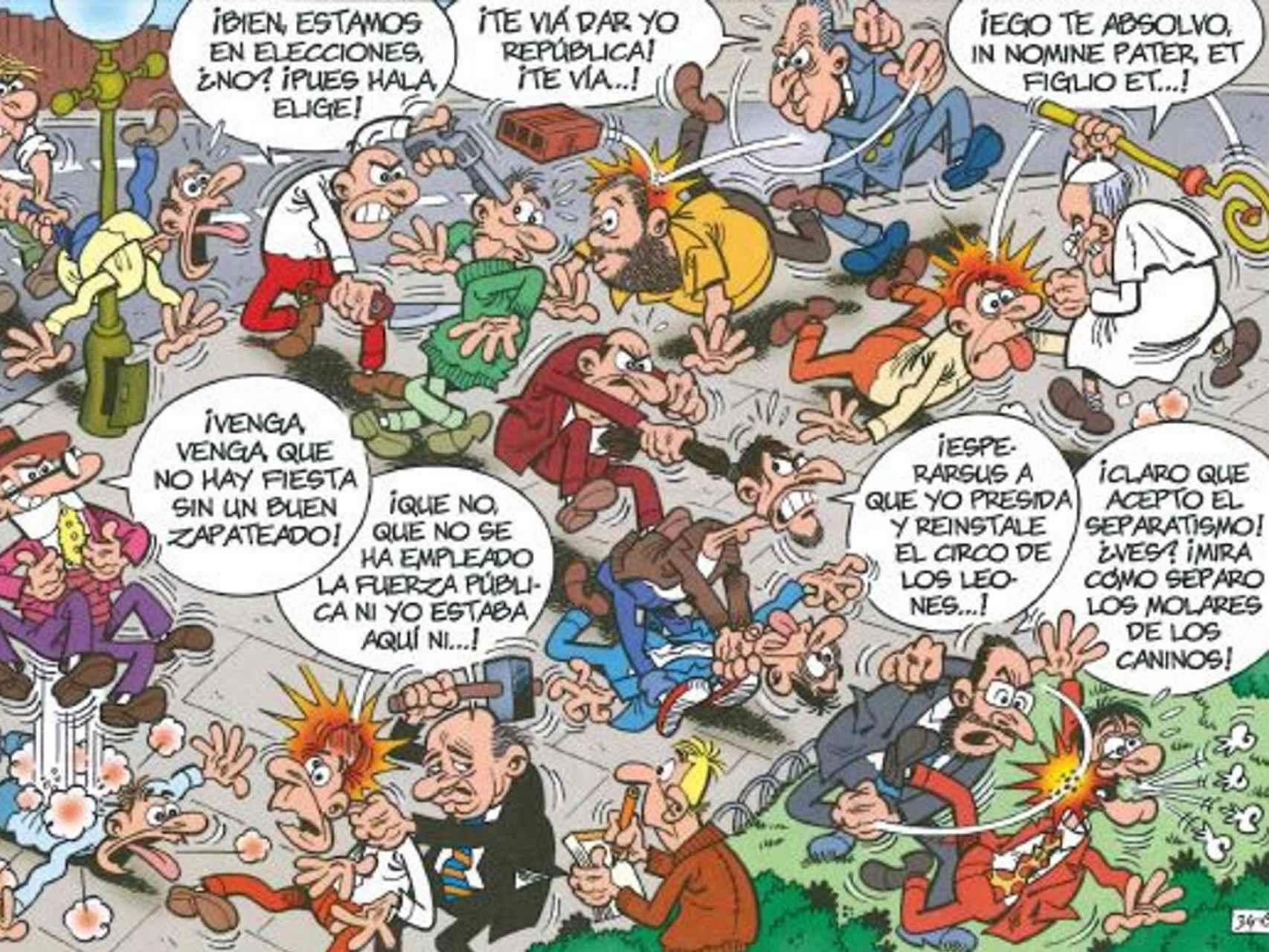 La lucha de los candidatos por el poder.