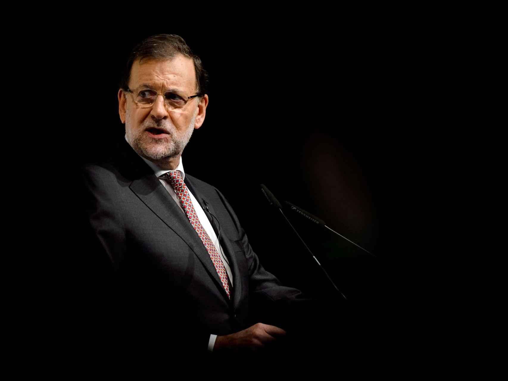 Rajoy, durante su intervención en el foro de 'El Mundo'.