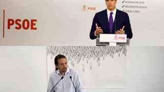 Los líderes del PSOE y Podemos, Pedro Sánchez y Pablo Iglesias.