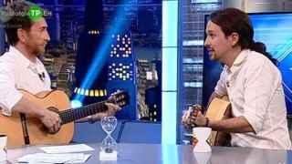 Pablo Iglesias durante la entrevista en 'El hormiguero' de Antena3