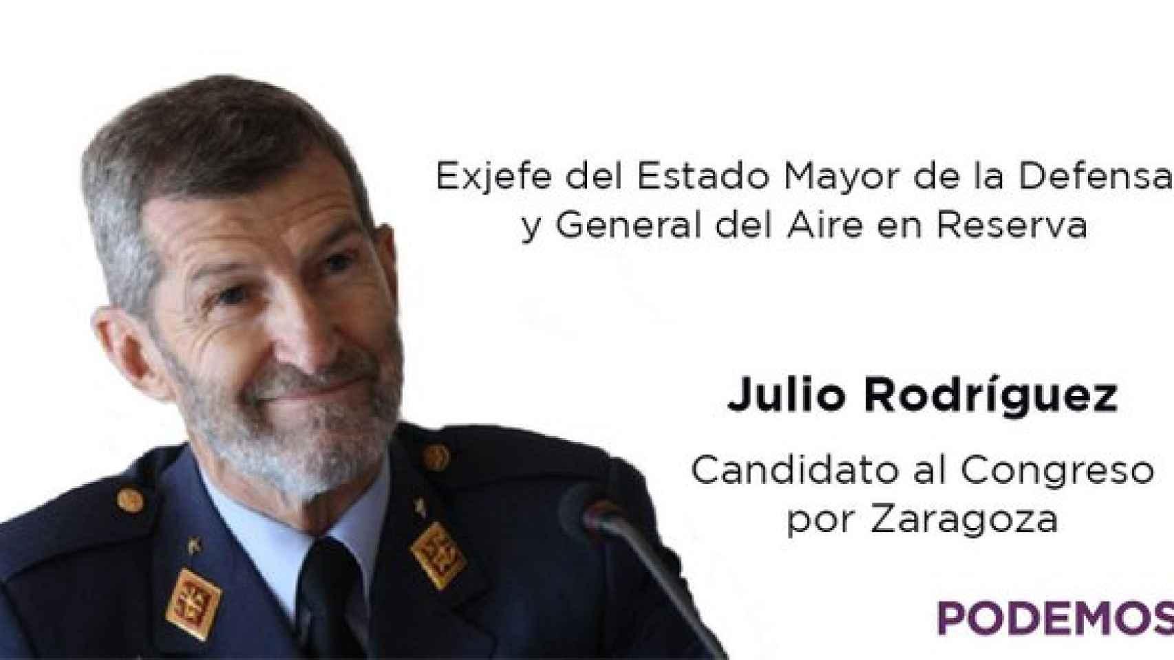 El tuit de Podemos anunciando el fichaje de Julio Rodríguez.
