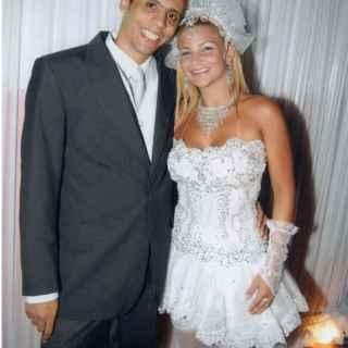 El día de la boda con Danúbia, en 2006.