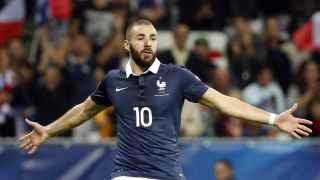 Benzema con la selección francesa