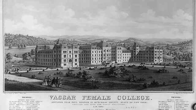 Vista de la Universidad, en 1864.