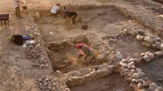 Una de las excavaciones de Miquel Molist en Siria.
