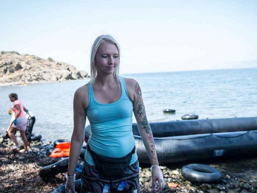 La voluntaria noruega Charlotte Vestli.