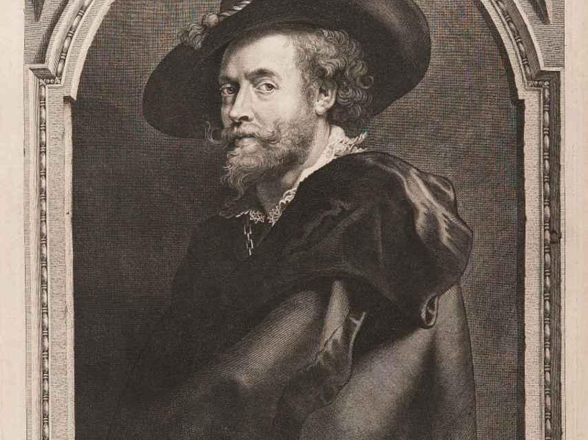 Retrato de Rubens de Paulus Pontius.