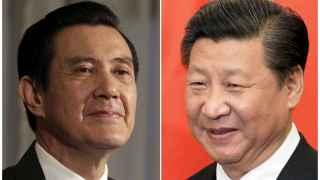 Los líderes taiwanés y chino, Ma Ying-jeou y Xi Jinping.